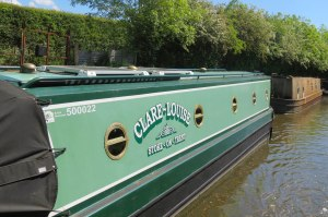 We saw our first boat moored at Gnosall.